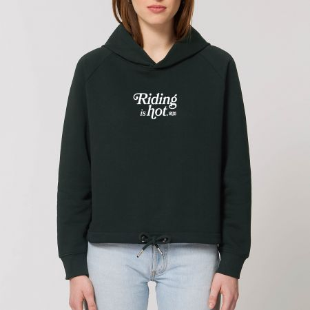 """HOODIE """"RIDING IS HOT"""" Femme"""