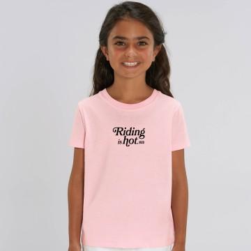 """TSHIRT """"RIDING IS HOT"""" Enfant"""