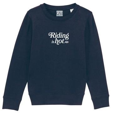 "SWEAT ""RIDING IS HOT"" Enfant"