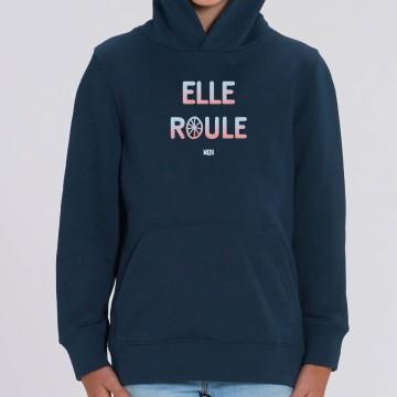 """HOODIE """"ELLE ROULE"""" Enfant"""