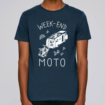 """TSHIRT """"WEEK END MOTO"""" Homme"""
