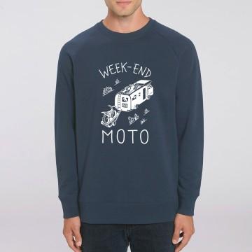 "SWEAT ""WEEK END MOTO"" Homme"