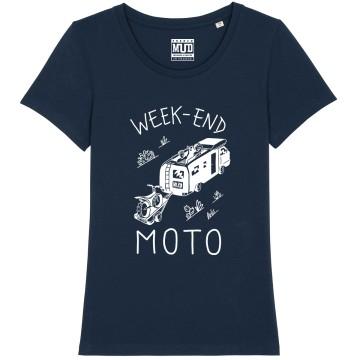 "TSHIRT ""WEEK END MOTO"" Femme"