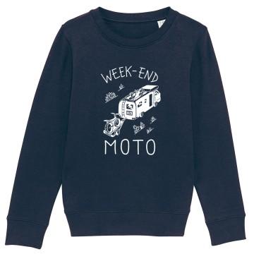 "SWEAT ""WEEK END MOTO"" Enfant"