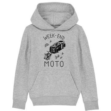 """HOODIE """"WEEK END MOTO"""" Enfant"""