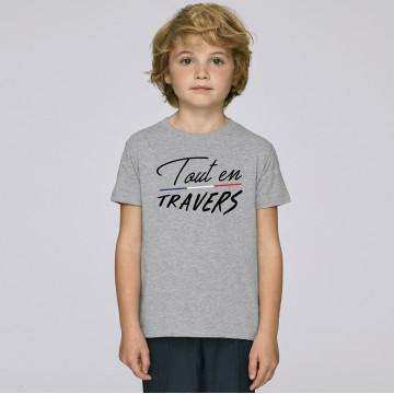 Tshirt Enfant Tout en Travers
