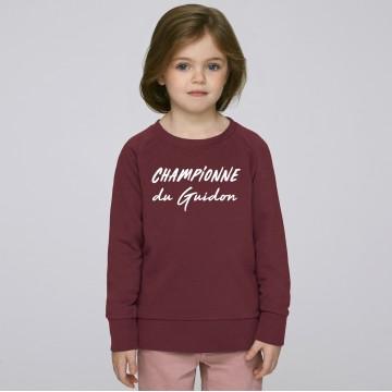 Sweat Enfant Championne du Guidon