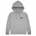 Hoodie Court Femme French-Mud Light