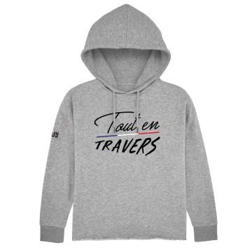 Hoodie Court Tout en Travers