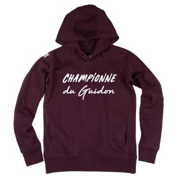 Hoodie Femme Championne du Guidon