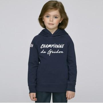 Hoodie Enfant Championne du Guidon