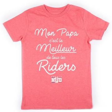 Tshirt Papa Meilleur Rider Enfant