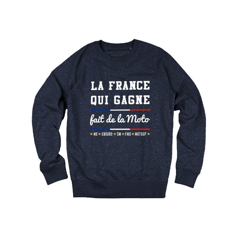 Sweat La France qui Gagne fait de la Moto