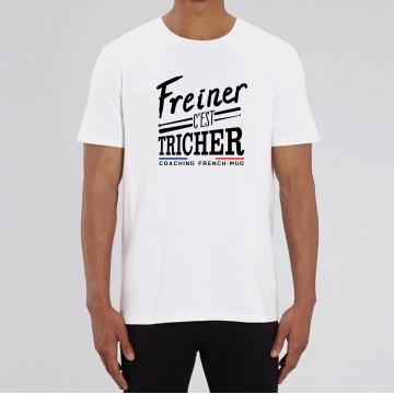 """TSHIRT """"FREINER C'EST TRICHER"""" Homme"""