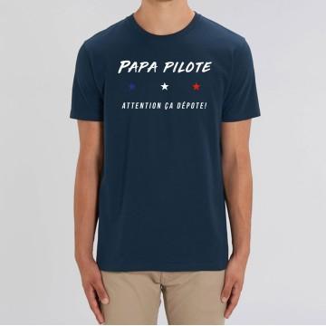 """TSHIRT """"PAPA PILOTE"""" Homme"""