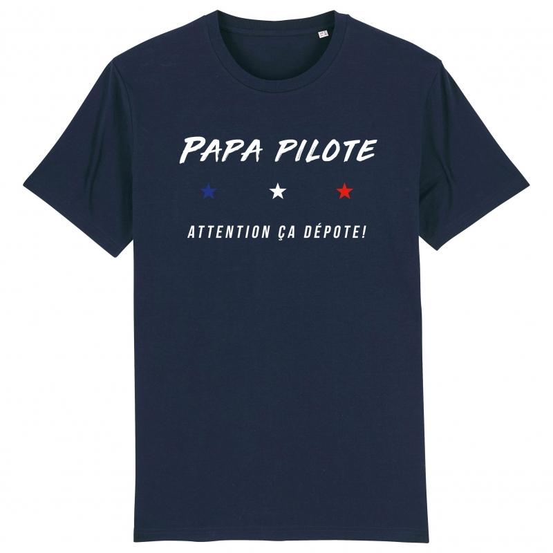TSHIRT Unisexe PAPA PILOTE