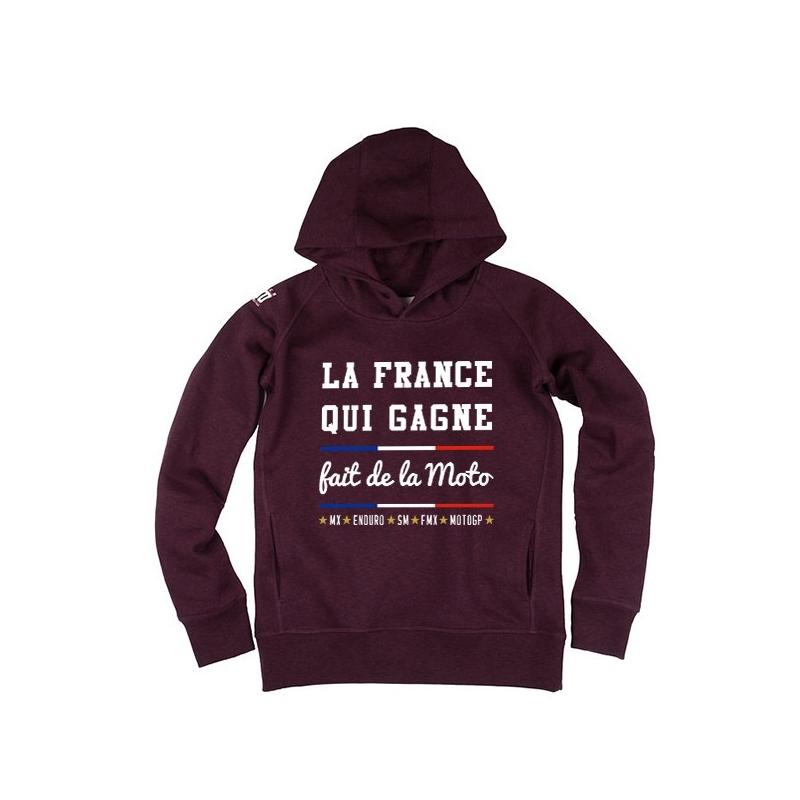 Hoodie La France qui Gagne fait de la Moto Femme