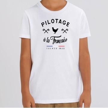 "TSHIRT ""PILOTAGE A LA FRANCAISE"" Enfant"