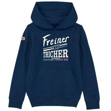 """HOODIE """"FREINER C'EST TRICHER"""" Enfant"""