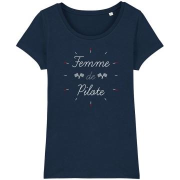 """TSHIRT """"FEMME DE PILOTE"""" Femme"""