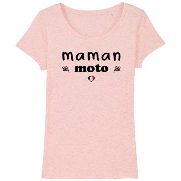 """TSHIRT """"MAMAN MOTO"""" Femme"""