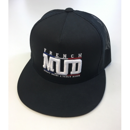 Casquette Trucker Full Black brodée en France