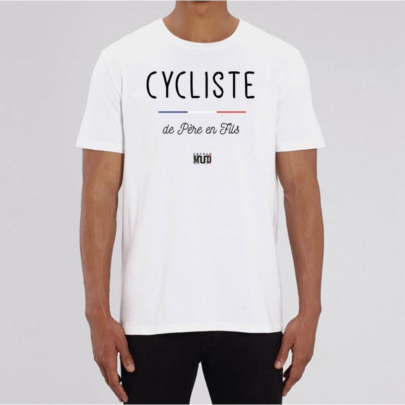 TSHIRT Unisexe CYCLISTE DE PÈRE EN FILS